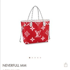 Louis Vuitton Bags - louis vuitton giant red neverfull